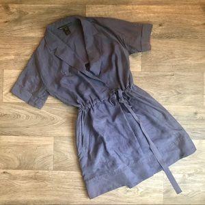 Marc by Marc Jacobs Silk Faux Wrap Shirt Dress S